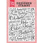 Echo Park - Party Time Collection - Clear Acrylic Stamps - Make a Wish A2 Background