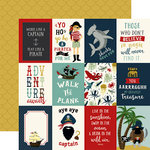 Echo Park - Pirate Tales Collection - 12 x 12 Double Sided Paper - 3 x 4 Journaling Cards