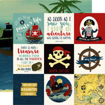 Echo Park - Pirate Tales Collection - 12 x 12 Double Sided Paper - 4 x 4 Journaling Cards