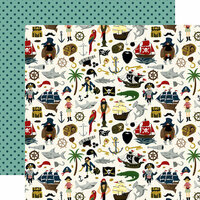 Echo Park - Pirate Tales Collection - 12 x 12 Double Sided Paper - Walk The Plank