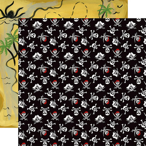 Echo Park - Pirate Tales Collection - 12 x 12 Double Sided Paper - Jolly Roger