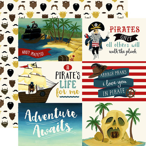 Echo Park - Pirate Tales Collection - 12 x 12 Double Sided Paper - 6 x 4 Journaling Cards