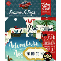 Echo Park - Pirate Tales Collection - Ephemera - Frames and Tags