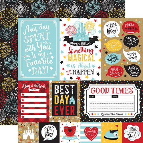 Echo Park - Remember The Magic Collection - 12 x 12 Double Sided Paper - Multi Journaling Cards