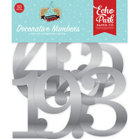 Echo Park - Remember The Magic Collection - Decorative Numbers - Silver Foil