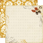 Echo Park - Reflections Collection - Fall - 12 x 12 Double Sided Paper - Harvest Morning