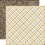 Echo Park - Reflections Collection - Fall - 12 x 12 Double Sided Paper - Harvest Plaid