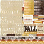 Echo Park - Reflections Collection - Fall - 12 x 12 Cardstock Stickers - Alphabet