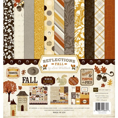 Echo Park - Reflections Collection - Fall - 12 x 12 Collection Kit