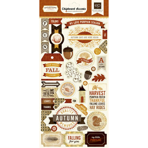 Echo Park - Reflections Collection - Fall - Chipboard Stickers