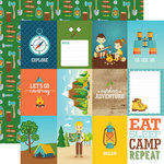 Echo Park - Summer Adventure Collection - 12 x 12 Double Sided Paper - 3 x 4 Journaling Cards