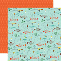Echo Park - Summer Adventure Collection - 12 x 12 Double Sided Paper - Go See Fish