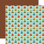 Echo Park - Summer Adventure Collection - 12 x 12 Double Sided Paper - Pitch A Tent