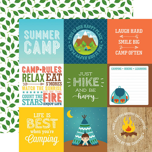 Echo Park - Summer Adventure Collection - 12 x 12 Double Sided Paper - 4 x 4 Journaling Cards