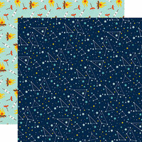 Echo Park - Summer Adventure Collection - 12 x 12 Double Sided Paper - Star Gaze