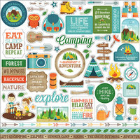 Echo Park - Summer Adventure Collection - 12 x 12 Cardstock Stickers - Elements