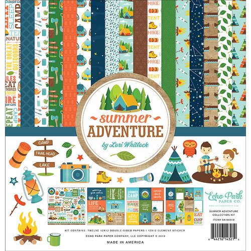 Echo Park - Summer Adventure Collection - 12 x 12 Collection Kit