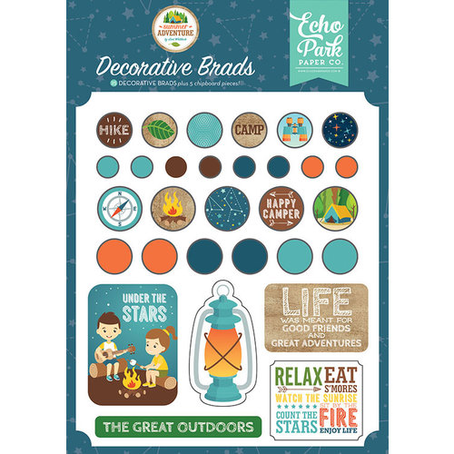 Echo Park - Summer Adventure Collection - Decorative Brads