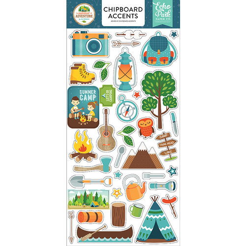 Echo Park - Summer Adventure Collection - Chipboard Stickers - Accents