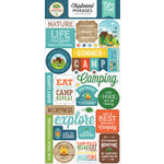 Echo Park - Summer Adventure Collection - Chipboard Stickers - Phrases