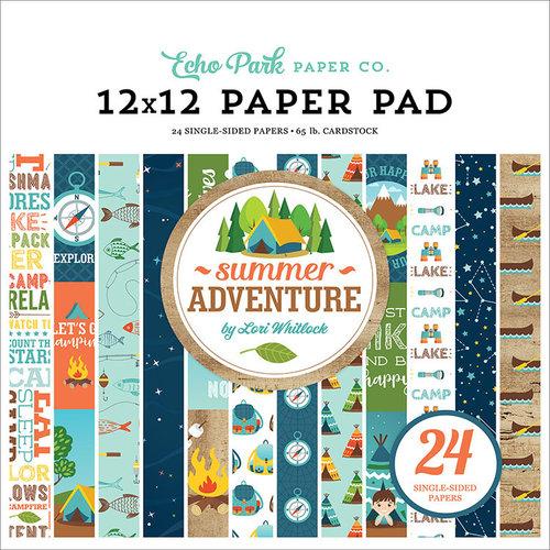 Echo Park - Summer Adventure Collection - 12 x 12 Paper Pad