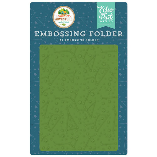 Echo Park - Summer Adventure Collection - Embossing Folder - Constellations