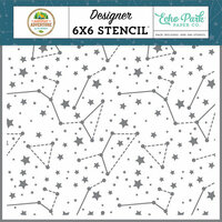 Echo Park - Summer Adventure Collection - 6 x 6 Stencil - Sky Constellations
