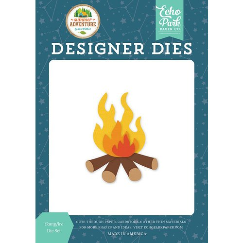 Echo Park - Summer Adventure Collection - Designer Dies - Campfire
