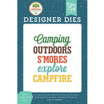 Echo Park - Summer Adventure Collection - Designer Dies - Explore Outdoors Word