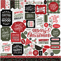Echo Park - Christmas Salutations Collection - 12 x 12 Cardstock Stickers - Elements