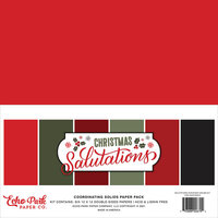 Echo Park - Christmas Salutations Collection - 12 x 12 Paper Pack - Solids
