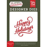Echo Park - Christmas Salutations Collection - Designer Dies - Happy Holidays
