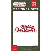 Echo Park - Christmas Salutations Collection - Designer Dies - Merry Christmas