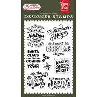 Echo Park - Christmas Salutations Collection - Clear Photopolymer Stamps - Making Spirits Bright