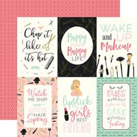 Echo Park - Salon Collection - 12 x 12 Double Sided Paper - 4 x 6 Journaling Cards