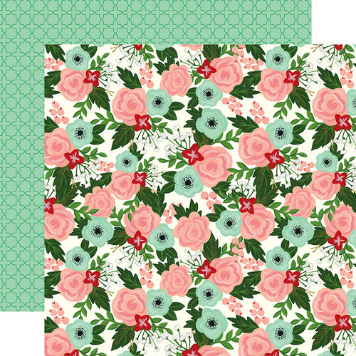 Echo Park - Salon Collection - 12 x 12 Double Sided Paper - Salon Floral