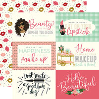 Echo Park - Salon Collection - 12 x 12 Double Sided Paper - 6 x 4 Journaling Cards
