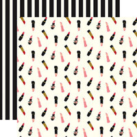 Echo Park - Salon Collection - 12 x 12 Double Sided Paper - Lipsticks