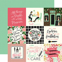 Echo Park - Salon Collection - 12 x 12 Double Sided Paper - 4 x 4 Journaling Cards