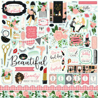 Echo Park - Salon Collection - 12 x 12 Cardstock Stickers - Elements