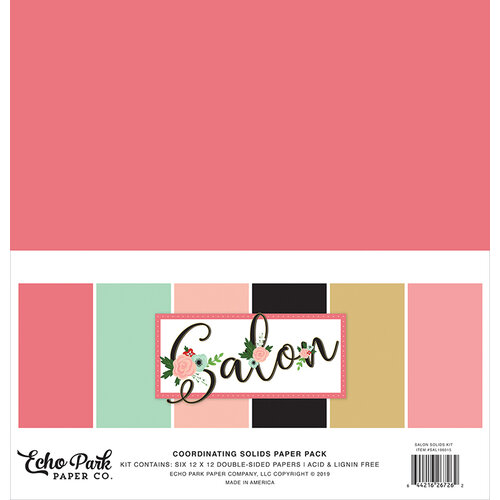 Echo Park - Salon Collection - 12 x 12 Paper Pack - Solids