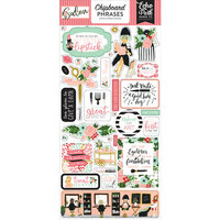 Echo Park - Salon Collection - Chipboard Stickers - Phrases