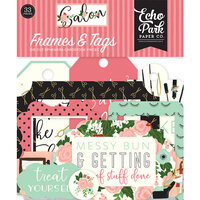 Echo Park - Salon Collection - Ephemera - Frames and Tags
