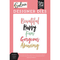 Echo Park - Salon Collection - Designer Dies - Beautiful and Amazing Word