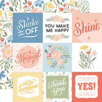 Echo Park - Salutations No. 1 Collection - 12 x 12 Double Sided Paper - 4 x 4 Journaling Cards