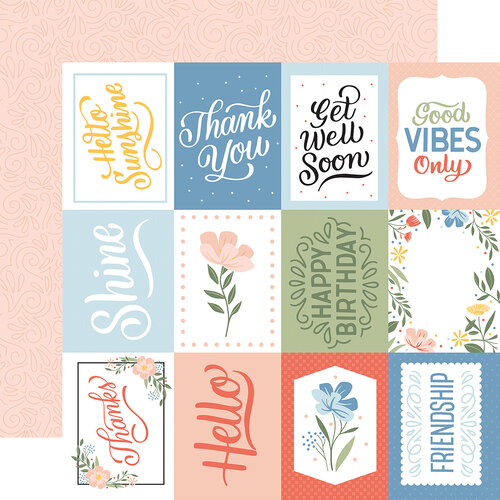 Echo Park - Salutations No. 1 Collection - 12 x 12 Double Sided Paper - 3 x 4 Journaling Cards