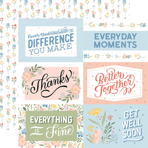 Echo Park - Salutations No. 1 Collection - 12 x 12 Double Sided Paper - 6 x 4 Journaling Cards
