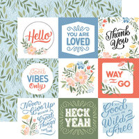 Echo Park - Salutations No. 1 Collection - 12 x 12 Double Sided Paper - Journaling Cards