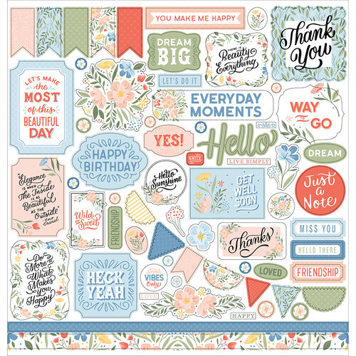 Echo Park - Salutations No. 1 Collection - 12 x 12 Cardstock Stickers - Elements