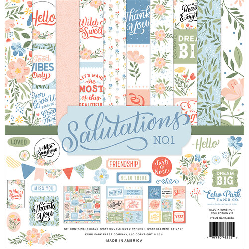 Echo Park - Salutations No. 1 Collection - 12 x 12 Collection Kit